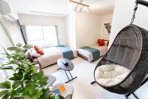 GREEN -1min walk sta / Newly-built / Relax chair-