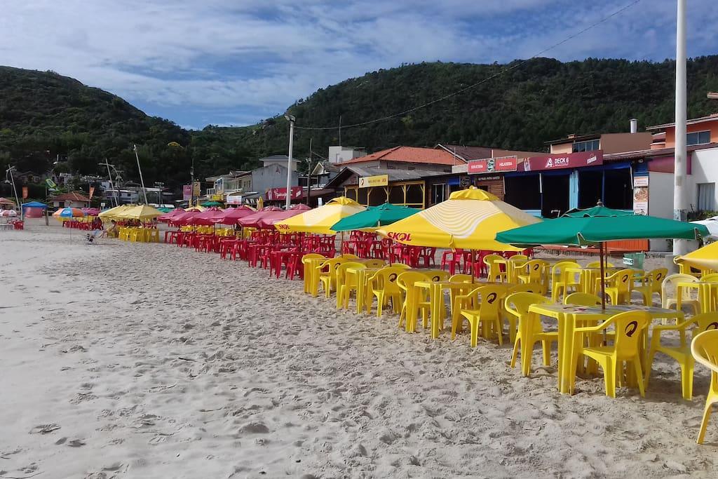 Bares a beira da praia