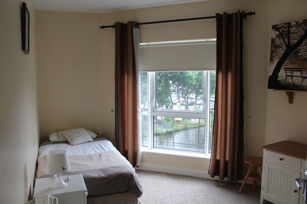 Bedroom overlooking the river!