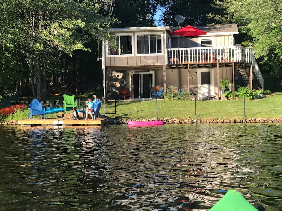 View of the house from one of our kayaks