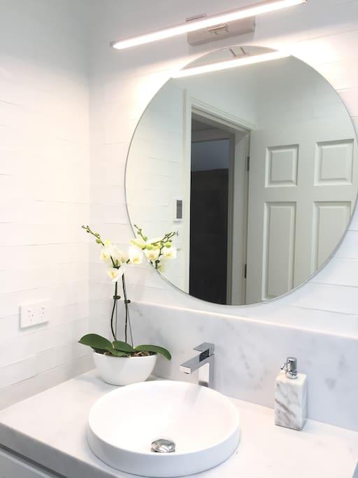 New bathroom with heated floor