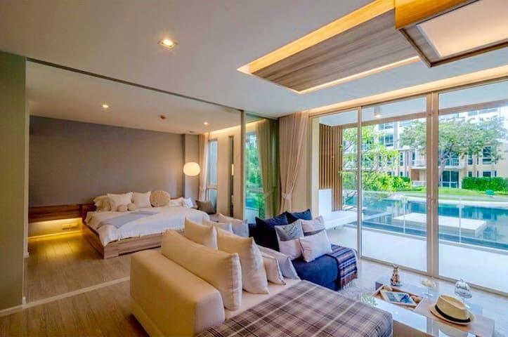 COSY HuaHin BEACHFRONT 2BR. - Tambon Nong Kae - Wohnung