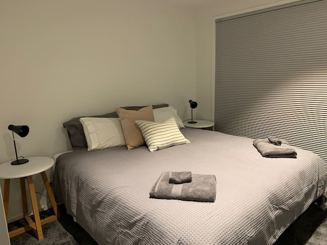 Bedroom 1: Super king bed - can be split to two king singles