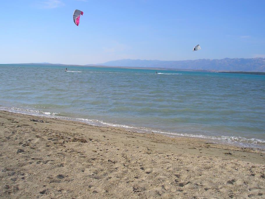 nearest beach 10-15 min walk