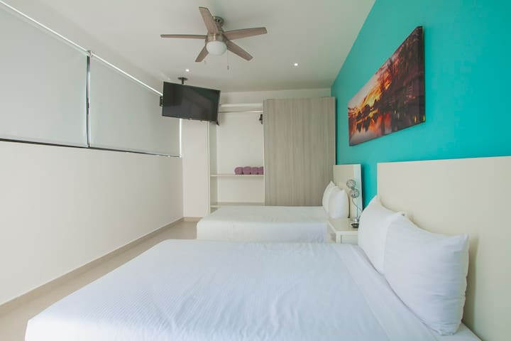3RA REMACARA UBICADA EN LA SEGUNDA PLANTA CON 2 CAMAS MATRIMONIALES & 3RTH ROOM LOCATED ON THE SECOND FLAT WITH 2 DOUBLE BEDS