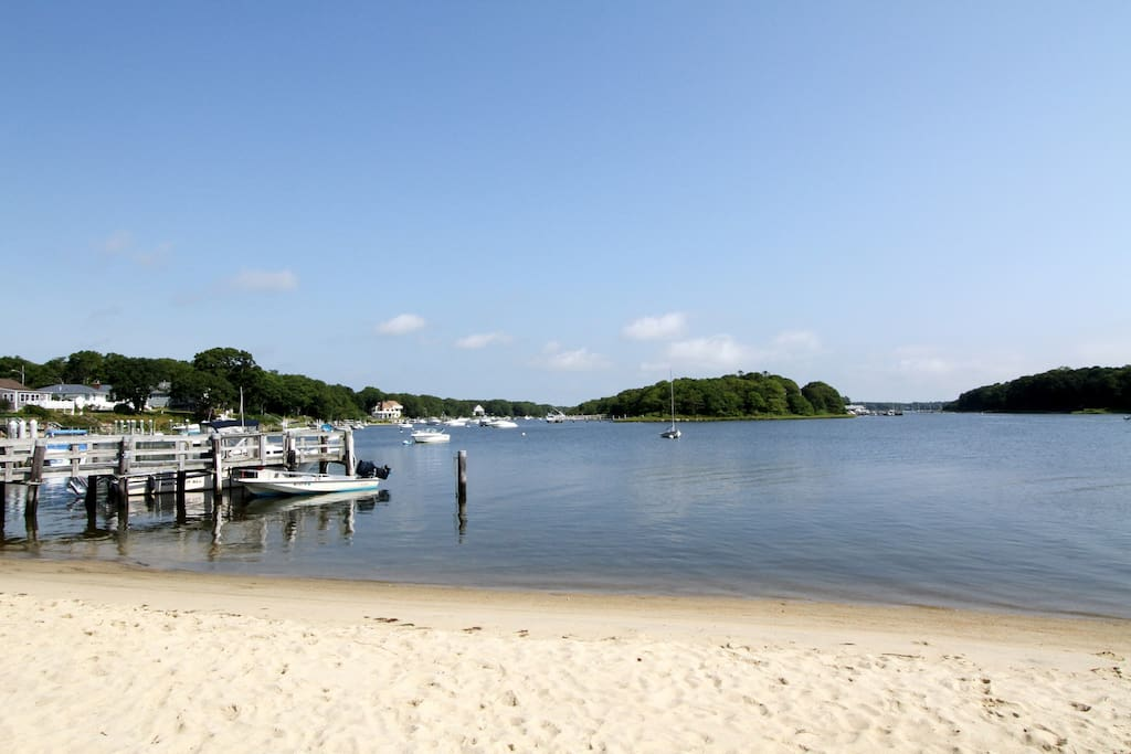 Spend your day at the beach, boating, paddle boarding, swimming.  A short walk down the street!