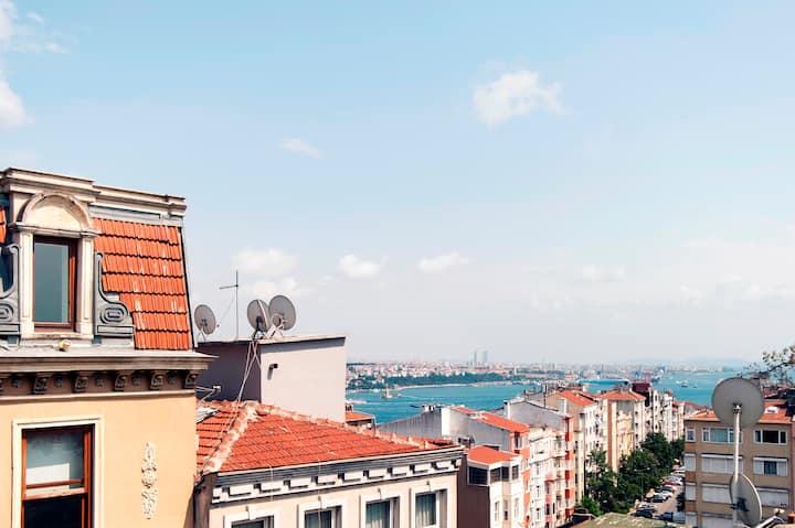 Great sea view in Taksim,Cihangir