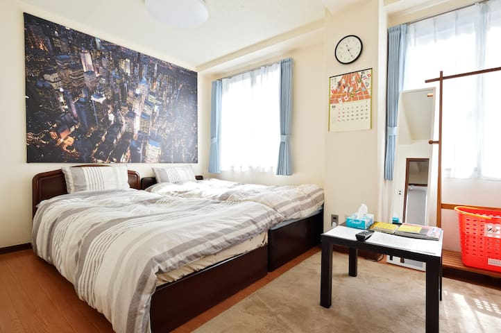 ★Near心斎橋 道頓堀 難波★Homey room☆Near 190m 松屋町駅☆FreeWiFi - Ōsaka-shi - Apartment