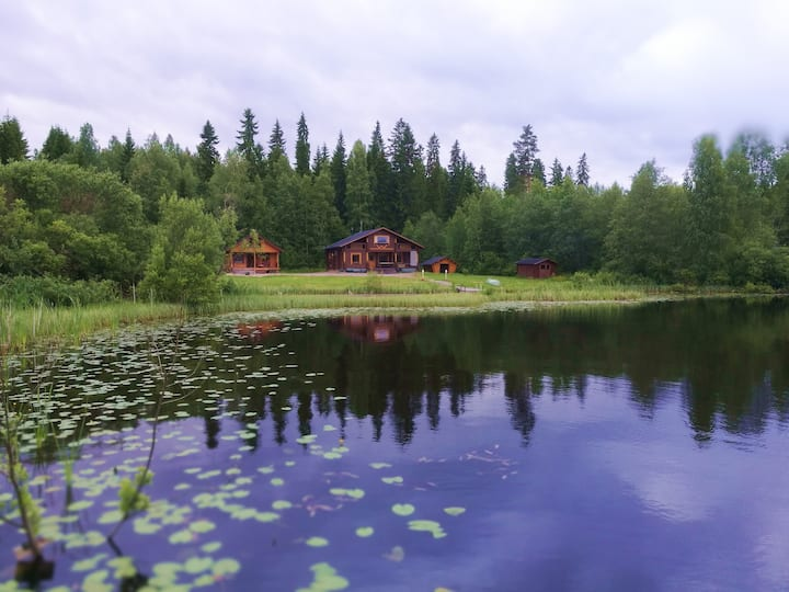 Уютный коттедж на берегу озера Tervajärvi