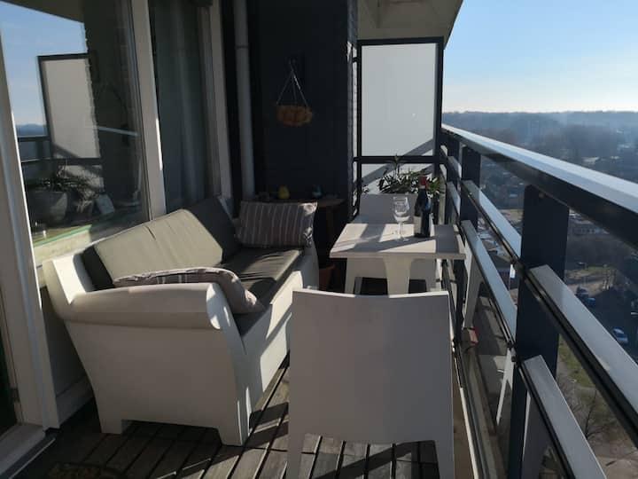 Enschede, appartement met een prachtig uitzicht