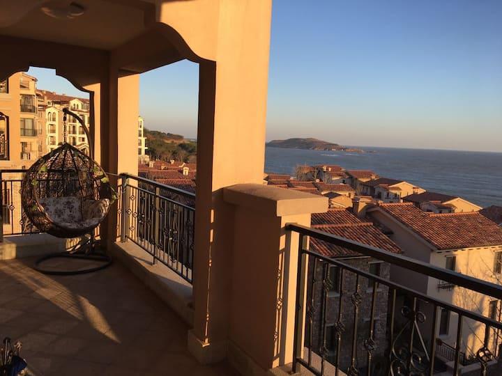 海水浴场/海宴台顶级一线海景房北欧两居公寓