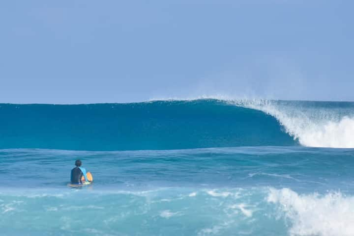 Beach accommodation at Mulah , Maldives