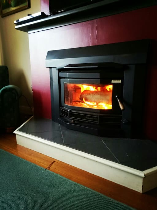 Enjoy a cosy wood fire during the cooler months