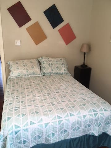 Private full size bed, clean, organized