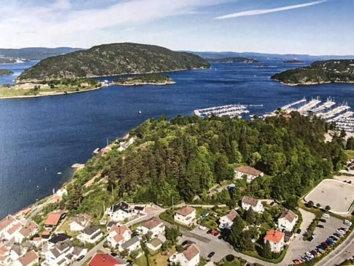 Drøbak, idyllisk, nære strand, sentrum og skog
