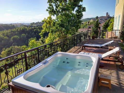 Al Cedro Terrazza sul Monferrato com Jacuzzi