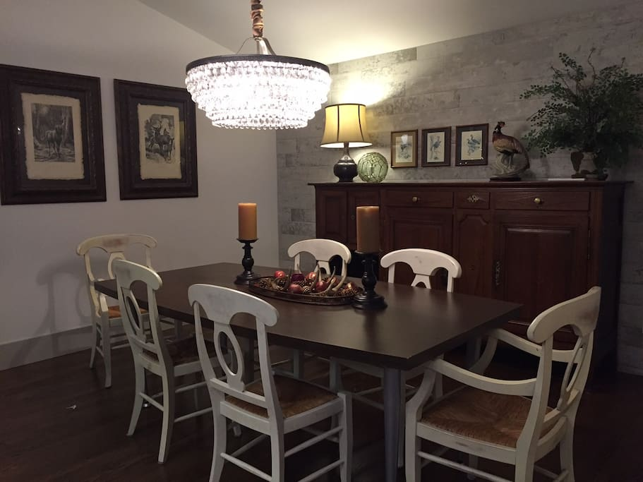 Dining room table, seating for 6+