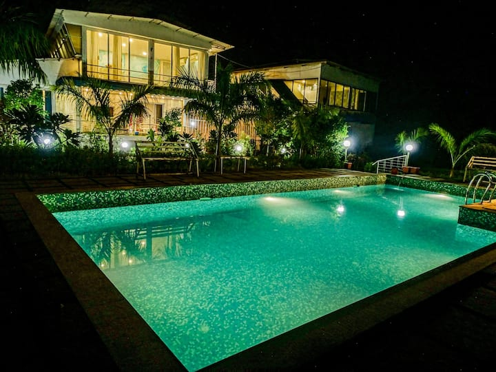 3BHK VILLA WITH PRIVATE SWIMMING POOL FACING HILLS