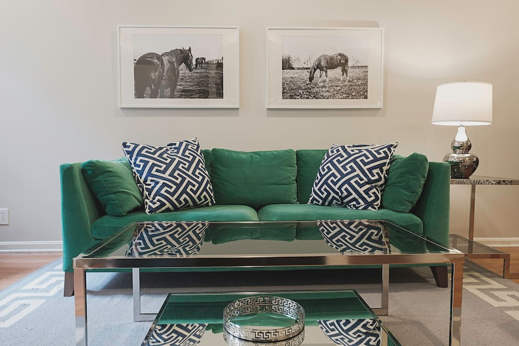 Relax and socialize in the welcoming living area.