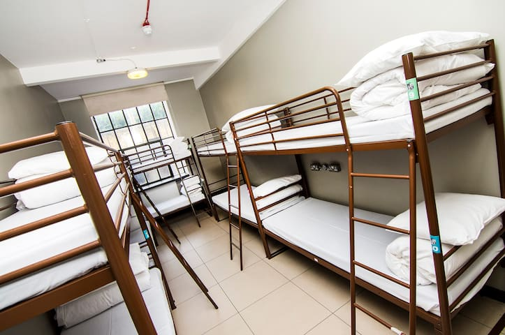 Bed in 8 Bed Shared Room with Bathroom
