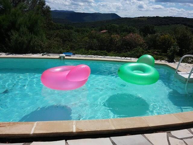 Studio avec piscine classé 3 *** - Le Bosc - Hus