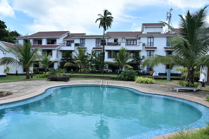 Relaxing 1bhk furnished apartment@Siolim,North Goa