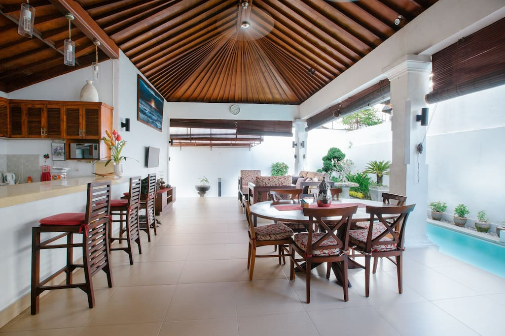 Open Space Living Room Kitchen Dining