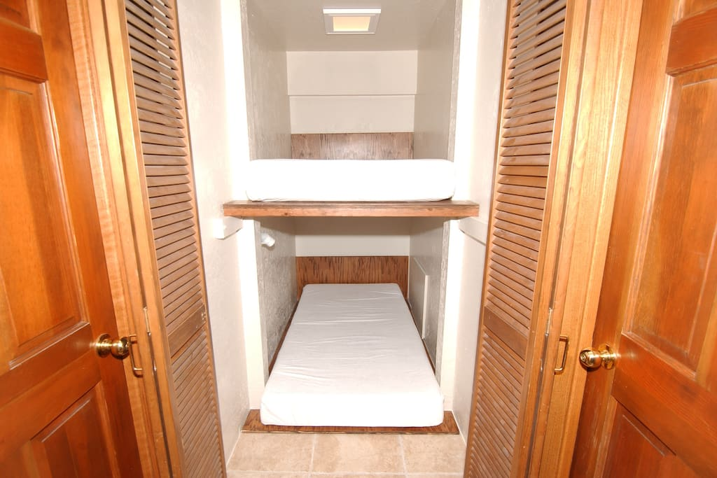 Dual European Capsules (two single beds) for the 3rd and 4th guest only.