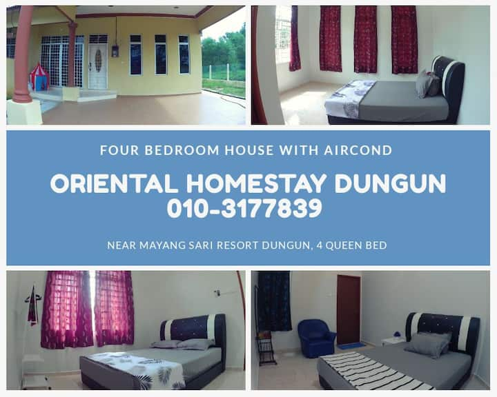 4 Bedroom House at Oriental Homestay Dungun