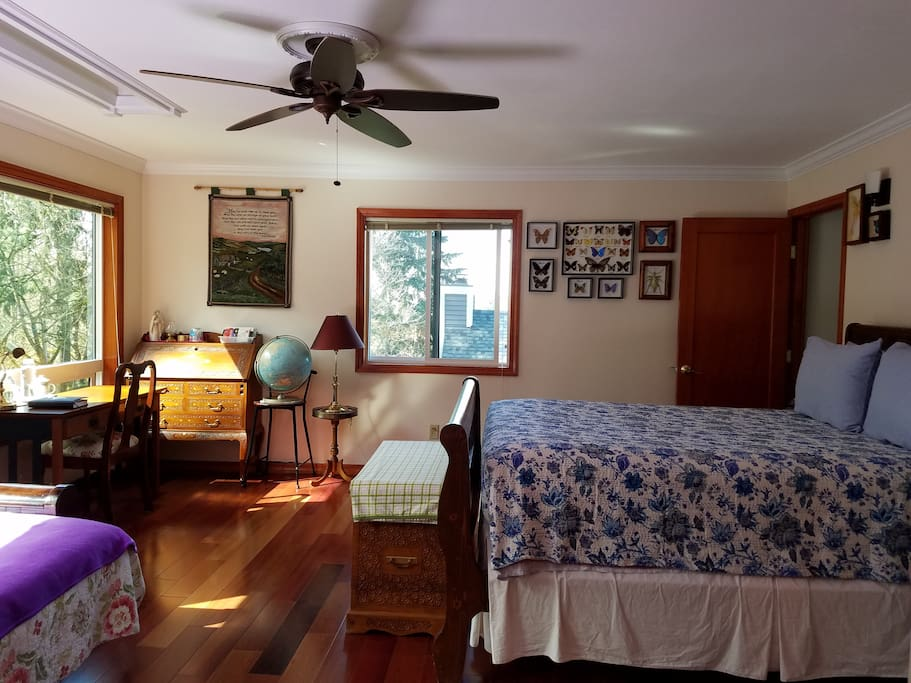 Spacious, clean & airy suite with hardwood floor and spectacular view of greenbelt.