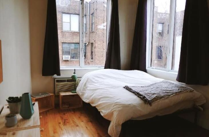 Bright private bedroom in beautiful apartment