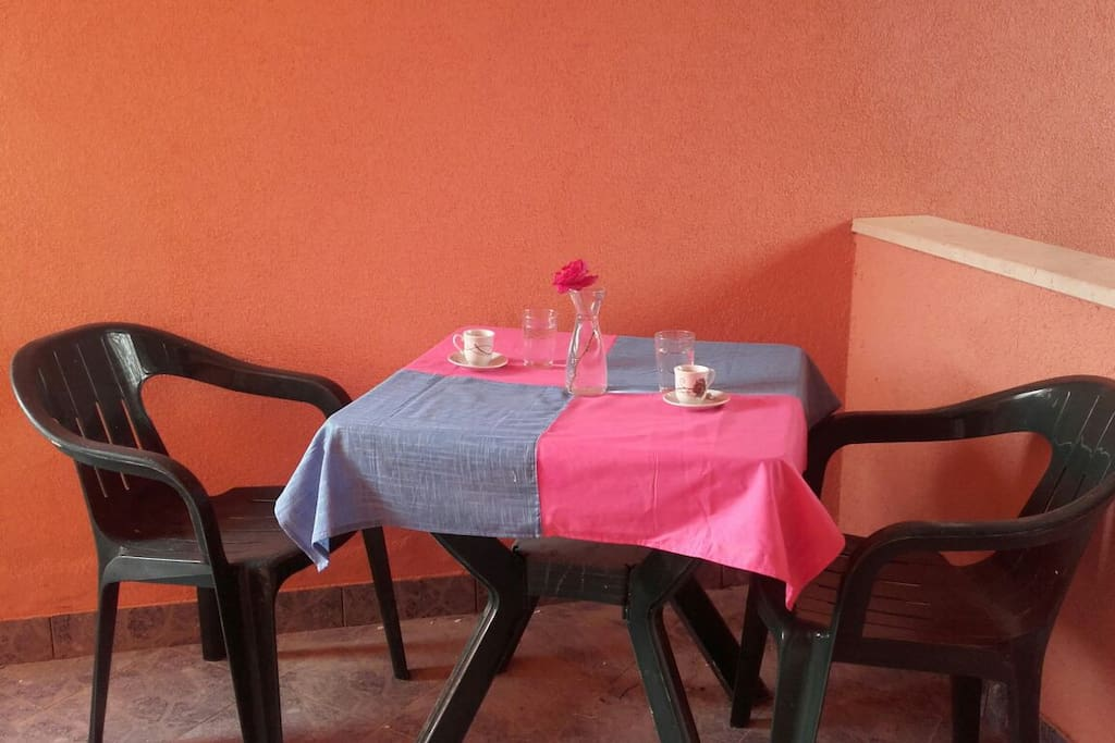 Beautiful place for your morning coffee Dining zone on the private balcony