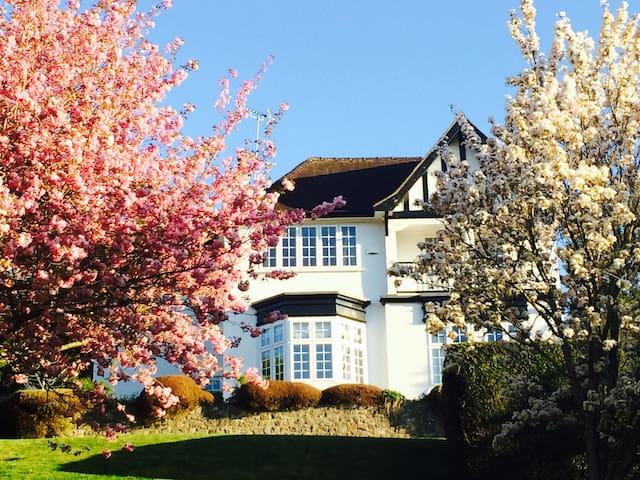 Ensuite double in Edwardian house near Bath