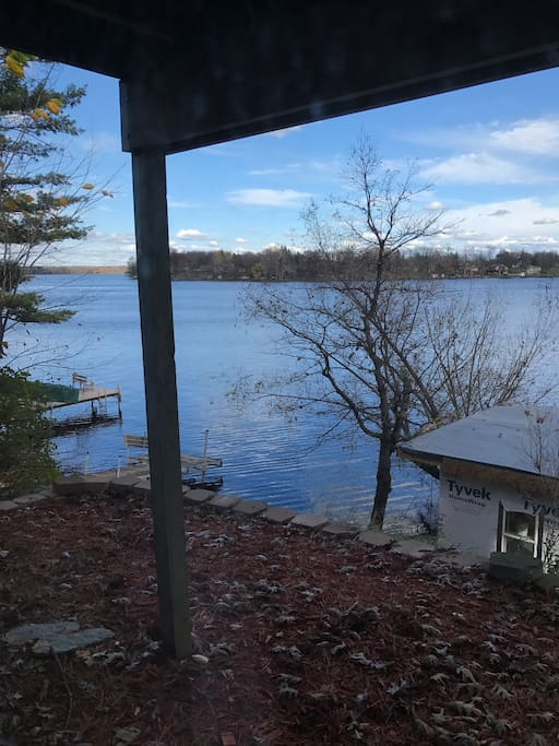Veiw of the lake from the cabin.
