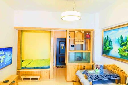 [AUNT CHEN'S HOME]昆北阿尔丁北大街苏宁万达附近的一室一厅清新风格公寓