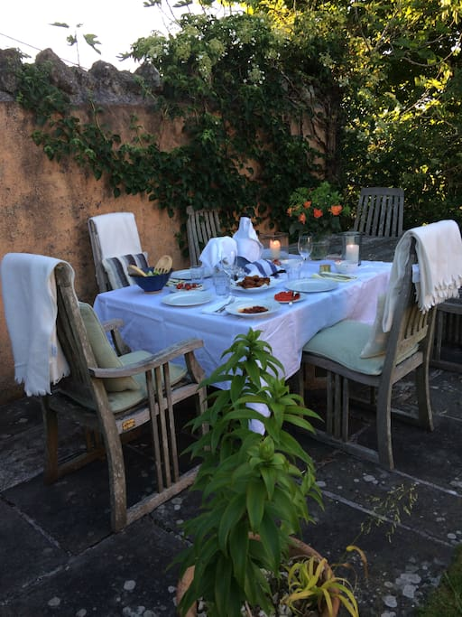 A lovely place for summer supper in the garden