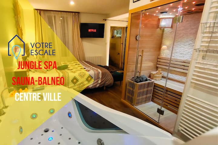 Votre Escale : Jungle Spa : Sauna, Balnéo&Netflix