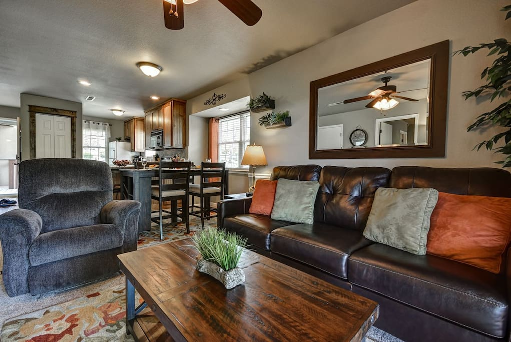 Open concept allows for a great time with family or friends.