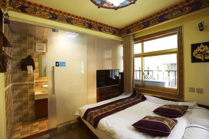 (暖气房)古城里的温馨大床房  和一个人的拉萨慢时光