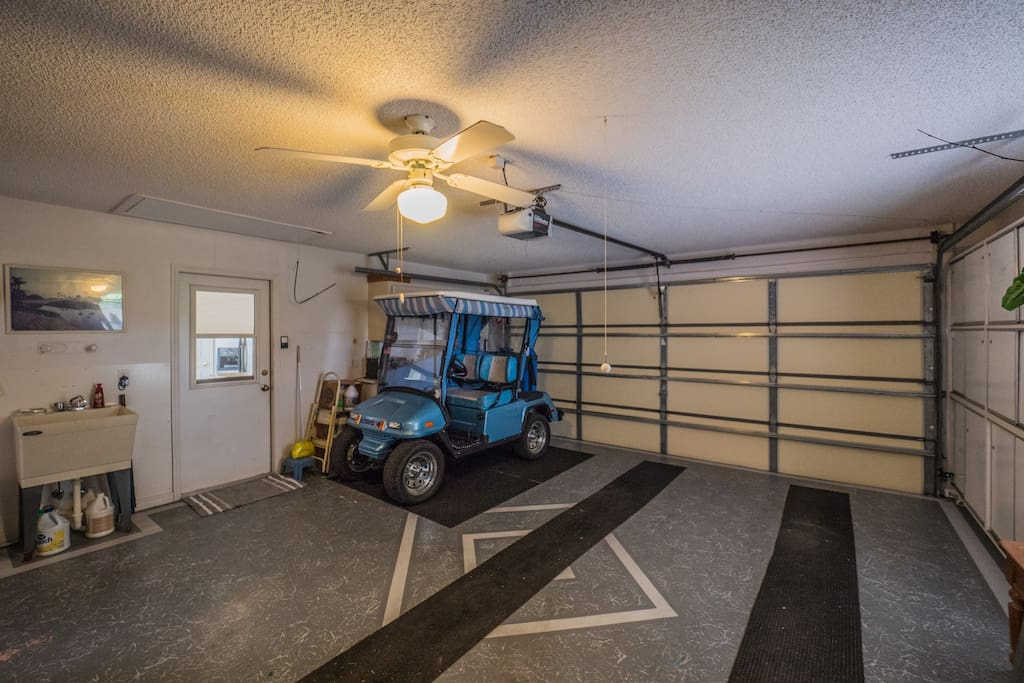 1 Car Garage with Comp Golf Cart Space