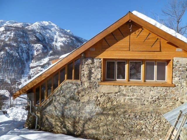 Chalet isolé en pleine nature: 200m +haut/vallée - La Salle-les-Alpes - Chalé
