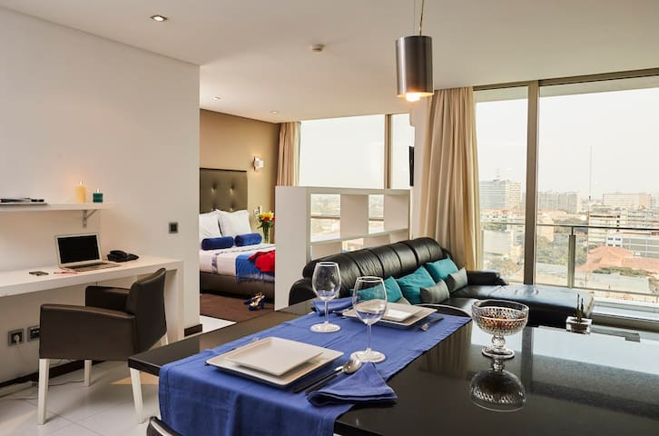 Modern and safe Hotel suite in city centre.
