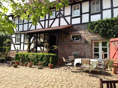 """Holidays in the historic half-timbered farm """"Herrets"""""""
