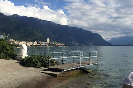 Spacious lovely apartment, footsteps to the lake. - Montreux