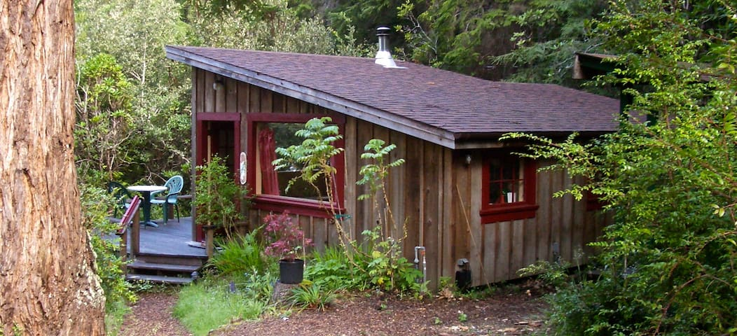 Big River Ridge Cottage, private, cozy in Redwoods - Mendocino