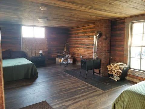 Beautiful log cabin near the sand dunes