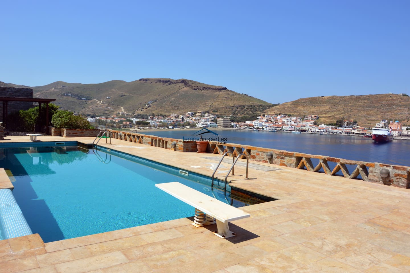 Part of the view from the pool area