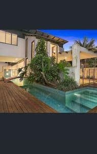 Architectural home with waterviews