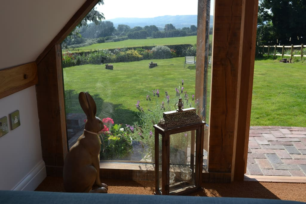 Stunning 180 degree views of the South Downs from Beacon Hill across the brooks towards Amberley & Rackham.  All yours in this recently built oak framed garden room.