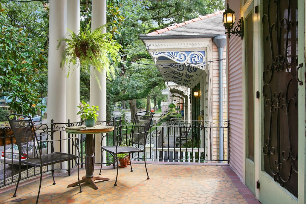 Relax on our classic NOLA porch!